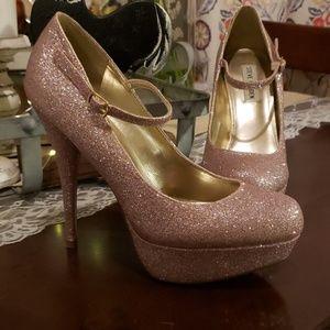 Pink glitter Steve Madden heels